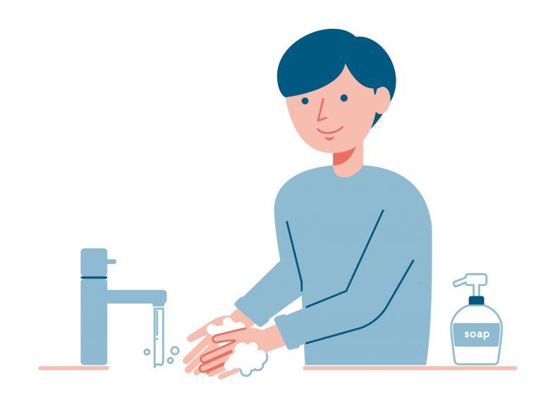 手洗いをしっかりする