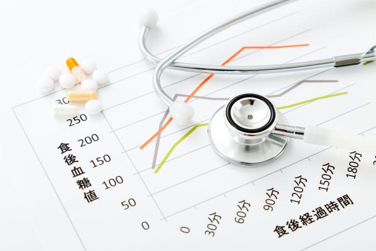 書類と聴診器と薬